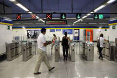 Madrid metro Stock Image