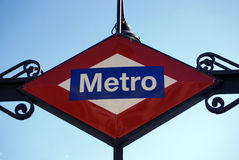 Madrid Metro Sign Stock Photos