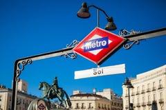 Madrid metro Stock Photo