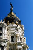 madrid metropolis spain arkivbild