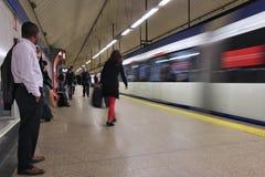 Madrid-Metrozug Stockfotografie
