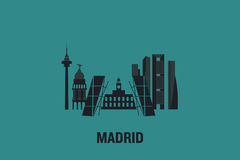 Madrid vector illustration