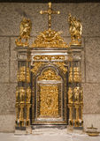 Madrid - Modern Tabernacle  from church hl. Theresia Stock Image