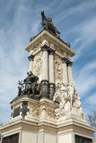 Madrid - Monument of Alfonso XII in Buen Retiro park Stock Photography