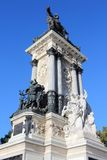 Madrid monument. Madrid, capital city of Spain. Monument to Alfonso XII in Retiro Park Royalty Free Stock Photos
