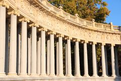 Madrid monument. Madrid landmark in Spain. Monument to Alfonso XII in Retiro Park Stock Photo