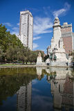 Madrid. Monument to Cervantes, Don Quixote and Sancho Panza. Spa Stock Images