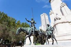 madrid Monumento a Cervantes Fotografía de archivo libre de regalías