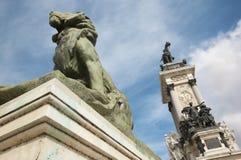Madrid - monumento de Alfonso XII en el parque de Buen Retiro Foto de archivo