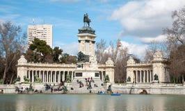 Madrid - monumento de Alfonso XII en el parque de Buen Retiro Imagen de archivo libre de regalías