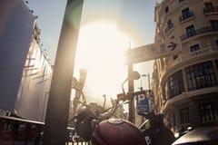 Madrid mopeder arkivfoto