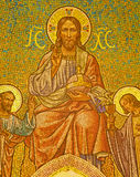 Madrid - Mosaic of Jesus Christ and apostle Peter and John Stock Photos