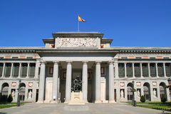Madrid Museo del Prado with Velazquez statue royalty free stock image