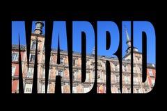 Madrid name Stock Image