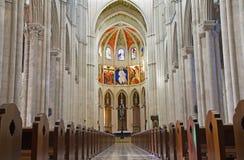 Madrid - navata della cattedrale gotica di Almudena Immagini Stock Libere da Diritti