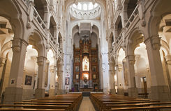 Madrid - Nave of church of hl. Theresia Stock Photos