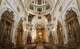 Madrid - Nave of church Iglesia catedral de las fuerzas armada de Espana Stock Photo