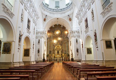 Madrid - Nave of church San Isidoro Stock Image