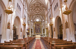 Madrid - Nave of church San Jeronimo el Real Stock Photo