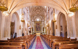 Madrid - Nave of church San Jeronimo el Real Royalty Free Stock Images