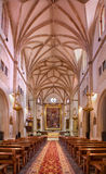 Madrid - Nave of church San Jeronimo el Real build in Isabelline gothic style from 16. cent. Stock Photos