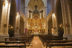 Madrid - Nave of church Santa cruz Royalty Free Stock Images