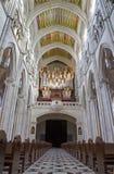 Madrid - Nave e coro della cattedrale di Almudena Fotografie Stock Libere da Diritti
