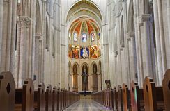 Madrid - Nave of Gothic Almudena cathedral Royalty Free Stock Images