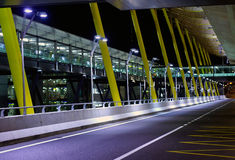 Madrid , new terminal. A view outside the new terminal of Madrid Barajas Royalty Free Stock Photography