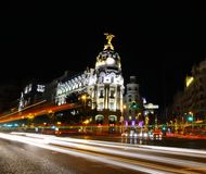 Madrid night. Royalty Free Stock Photo