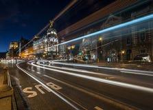 Madrid night lights Stock Photo