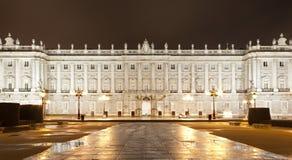 Madrid - North facade of Palacio Real Stock Photography