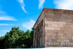Madrid, o templo de Debod Fotografia de Stock