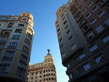 Madrid Office and Apartment Buildings. Royalty Free Stock Photography