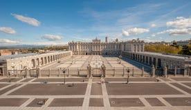 madrid pałac królewski Spain Obrazy Royalty Free