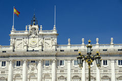 Madrid Palace. With Lamp, Madrid, Spain Royalty Free Stock Image