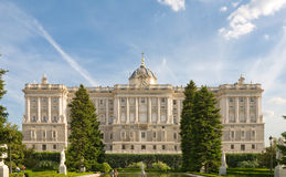 Madrid - Palace Real. Urban landscape - old center of Madrid Royalty Free Stock Image