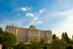 Madrid - Palace Real. Urban landscape - old center of Madrid Royalty Free Stock Images