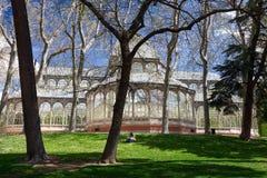 Madrid Palacio de Cristal Royaltyfri Fotografi