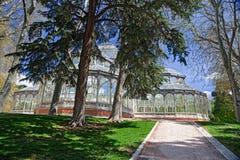 Madrid Palacio de Cristal Arkivfoton