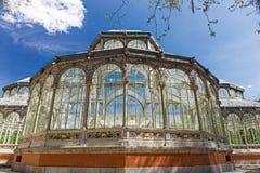 Madrid Palacio de Cristal Royaltyfri Foto