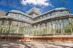Madrid Palacio de Cristal Royaltyfria Bilder