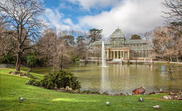 Madrid - Palacio de Cristal or Crystal Palace in Buen Retiro park Stock Photo