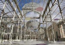 Madrid - Palacio de Cristal eller den Crystal slotten i Buen Retiro parkerar Royaltyfri Foto