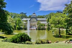 Madrid, Spain. Madrid, Palacio de Cristal - Crystal Palace in Parque de El Retiro, Spain royalty free stock photography