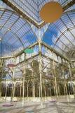 Madrid - Palacio de Cristal o Crystal Palace en el parque de Buen Retiro. Fotos de archivo libres de regalías