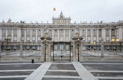 Madrid - Palacio Real or Royal palace. Constructed between years 1738 and 1755 in March 10, 2013 in Madrid Royalty Free Stock Photos