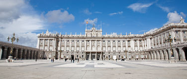 Madrid - Palacio Real or Royal palace. Constructed between years 1738 and 1755 in March 10, 2013 in Madrid Stock Photo
