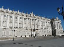 madrid palacio real Spain Fotografia Royalty Free