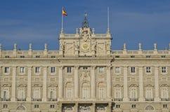 madrid palacio verkliga spain Arkivbild